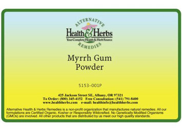 Alternative Health & Herbs Remedies Myrrh Gum Powder, 1 lb Bag