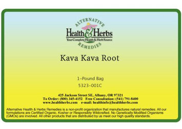 Alternative Health & Herbs Remedies Kava Kava Root, 1 lb Bag