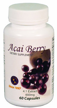 RaNisa Naturals Acai Berry - 600mg, 4:1 extract, 60 Caps