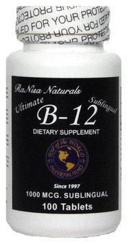 RaNisa Naturals Vitamin B-12 Sublingual, 100 tabs