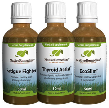 Native Remedies ThyroidAssist, Fatigue Fighter and EcoSlim UltraPack