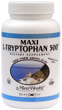Maxi L-Tryptophan (500 Mg) 90 Capsules, 3-Ounce Bottle