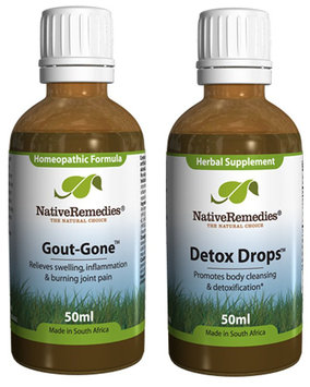 Native Remedies Gout-Gone and Detox Drops ComboPack
