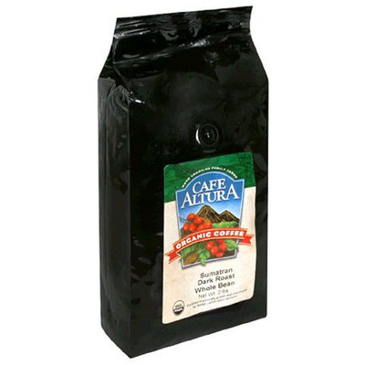 Cafe Altura Organic Coffee, Sumatran Dark Roast, Whole Bean, 32 oz Bag