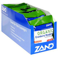 Zand Herbalozenge Organic Lozenges with Zinc & Vitamin C, Cranberry Raspberry, 18 ct, 12 pk