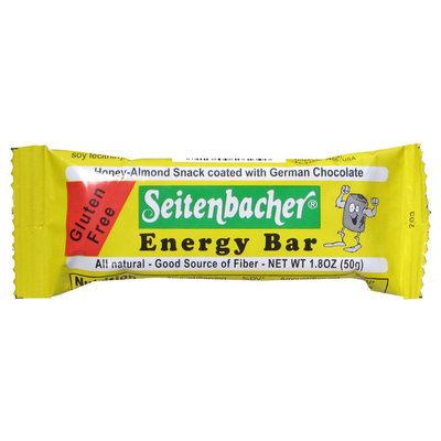 Seitenbacher Gluten Free Energy Bar, Honey-Almond Snack coated with German Chocolate, 1.8 oz Bars, 1