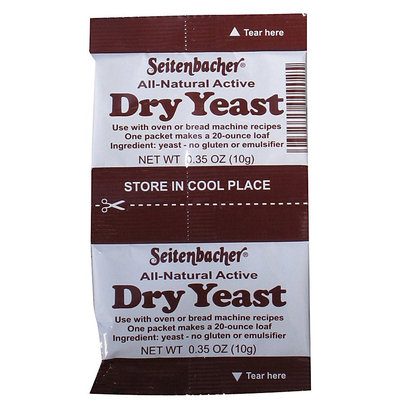 Seitenbacher All-Natural Active Dry Yeast, 0.7 oz, 16 ct