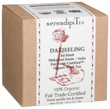 SerendipiTea Darjeeling, First Flush, India, Organic Black Tea, 4 oz Box