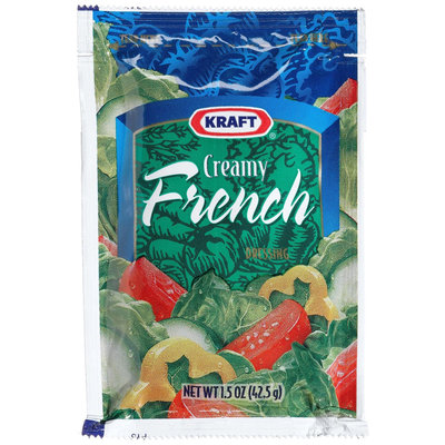 Kraft Creamy French Salad Dressing, 1.5 oz Packages, 60 ct