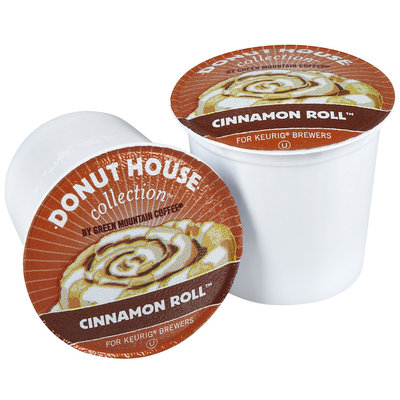 Donut House Collection Coffee, Cinnamon Roll, 24 ct K-Cups for Keurig Brewers