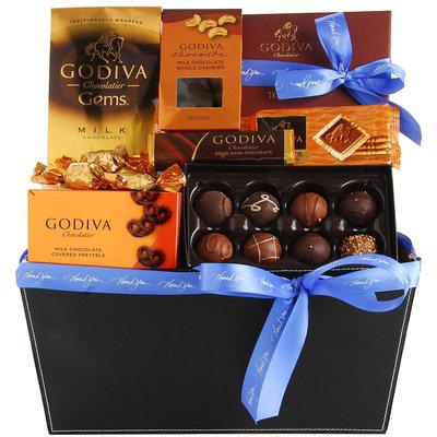 Wine.com Godiva Chocolate Gift Basket