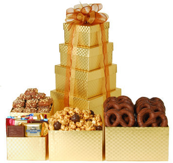 Wine.com Chocolate Gold Mine Gift Tower