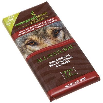 Endangered Species Chocolate Dark Chocolate w/ Cranberries & Almond.
