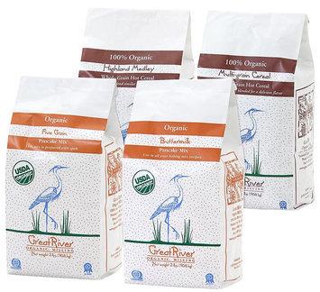 Great River Organic Milling Gift Set of Pancake Mix & Hot Cereal