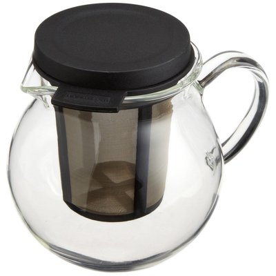 Rishi Tea Glass Pitcher (13.5-Ounce) with Infuser Basket