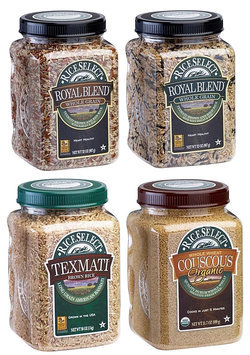 RiceSelect Whole Grain Lovers Sampler, Rice & Couscous Variety Pack, 4 ct