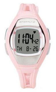 Sportline Solo Women's Heart Rate Monitor + Pedometer Watch (Pink)