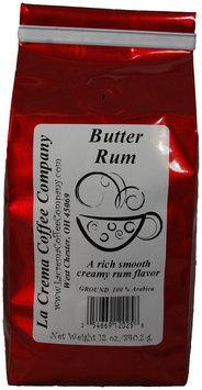 La Crema Coffee Butter Rum, 12 oz, 2 pk