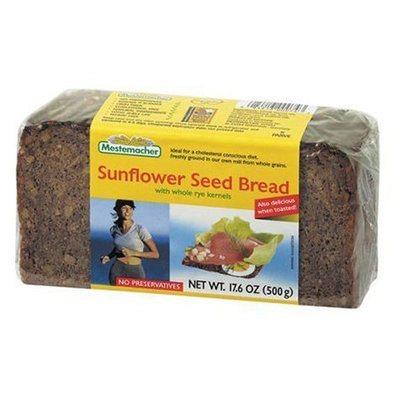 Mestemacher Sunflower Seed Bread, 17.6 oz Packages, 12 pk