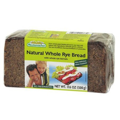 Mestemacher Natural Whole Rye Bread, 17.6 oz Packages, 12 pk