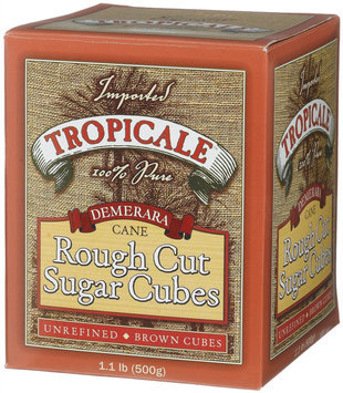 Tropicale Demerara Cane Rough Cut Sugar Cubes - 6 pk.