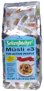 Seitenbacher Muesli #3 For Active People, Eighteen Tasty Ingredients, 16 oz Bags, 6 pk