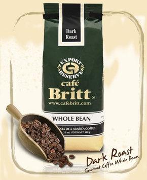 Cafe Britt Costa Rica Dark Roast Whole Bean Coffee, 12 oz Bags, 2 pk