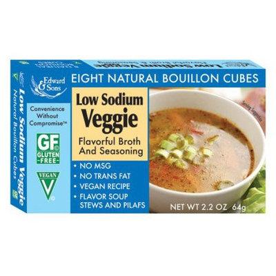 Edward & Sons Low Sodium Veggie Bouillon Cubes Boxes - 2.2 oz