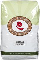 Coffee Bean Direct Six Bean Espresso, Whole Bean Coffee, 5 lb bag
