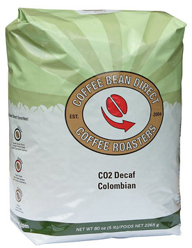 Coffee Bean Direct Co2 Decaf Colombian, Whole Bean Coffee, 5 lb Bag