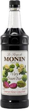 Monin Flavored Syrup, Desert Pear, 33.8 oz Plastic Bottles, 4 pk