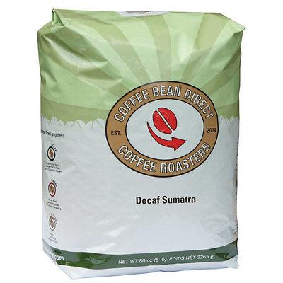 Coffee Bean Direct Decaf Sumatra, Whole Bean Coffee, 5 lb Bag