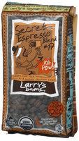 Larry's Beans Larrys Beans Fair Trade Organic Coffee, Secret Espresso Blend, Whole Bean, 12 oz Bags, 3 pk