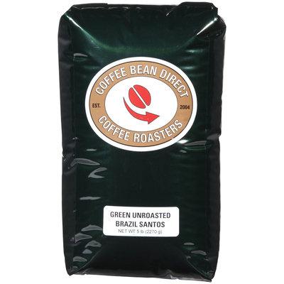 Coffee Bean Direct Green Unroasted Brazil Santos, Whole Bean Coffee, 5 lb bag