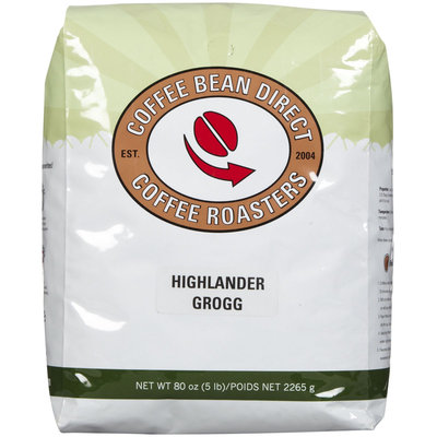 Coffee Bean Direct Highlander Grogg Flavored, Whole Bean Coffee, 5 lb Bag