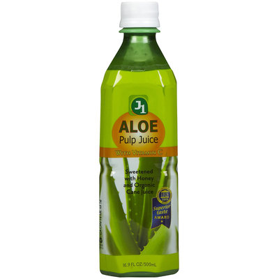 J1 Aloe Pulp Juice, Original, With Vitamin C, 16.9 oz, 12 pk