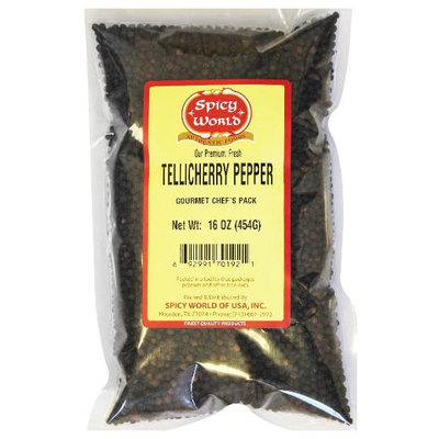 Spicy World Black Tellicherry Whole Peppercorn