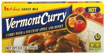 House Foods Vermont Curry, Hot, 8.8 oz Boxes, 10 pk