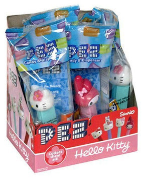 Partyland Pez 'Hello Kitty' Dispenser and Candy Rolls