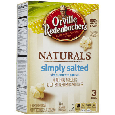 Orville Redenbacher's Microwaveable Popcorn, Natural Simply Salted, 3 ct