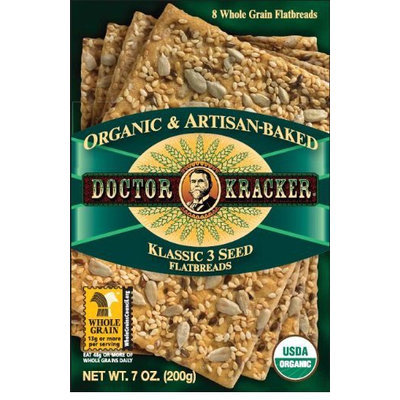 Doctor Kracker Org & Artisan Baked Flatbread, 3 Seed, 6 pk