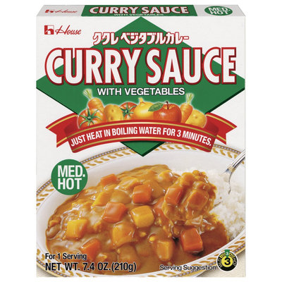 House Foods Curry Sauce w/ Vegetables Med Hot