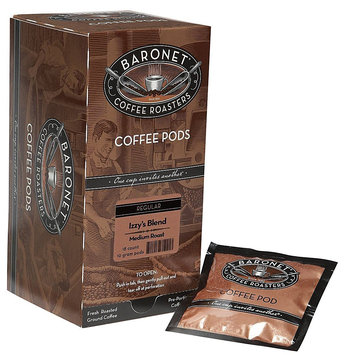 Baronet Coffee Izzys Blend Medium Roast, 18 ct Coffee Pods, 3 pk