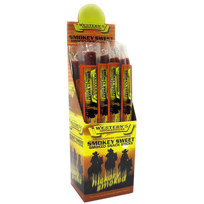 Western's Smokehouse Smokey Sweet Smoked Snack Sticks, 1 oz, 24 ct