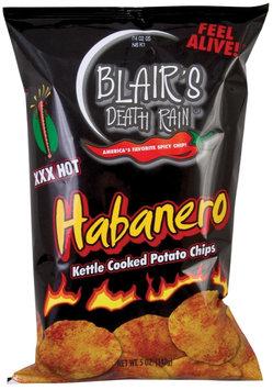 Blair's Death Rain Kettle Cooked Potato Chips, Habanero, 2 oz, 28 pk