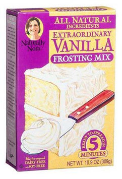 Naturally Nora Extraordinary Vanilla Frosting Mix - 6 pk.