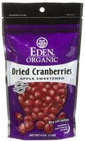 Eden Organic Dried Cranberries, 4 oz Pouches, 15 pk
