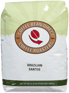Coffee Bean Direct Brazilian Santos, Whole Bean Coffee, 5 lb bag