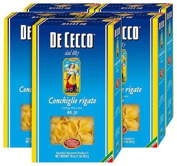 De Cecco Conchiglie Rigate, 16 oz Boxes, 5 pk