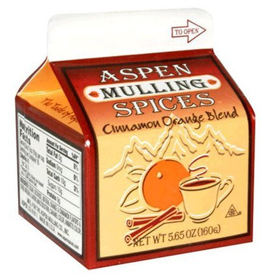 Aspen Mulling Spice Blend, Cinnamon Orange, 5.65 oz Cartons, 9 pk